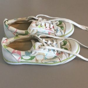 Colorful coach sneakers